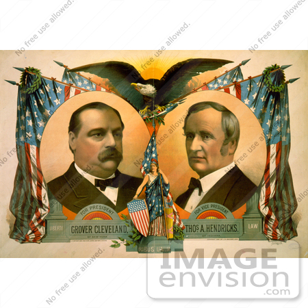 #2411 Grover Cleveland and Thomas A. Hendricks by JVPD