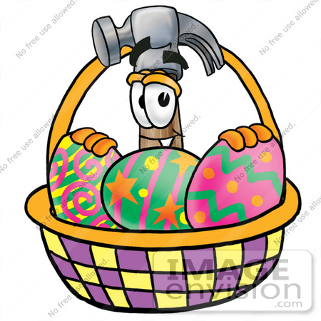 decorated easter eggs clipart. #24210 Clip Art Graphic of a