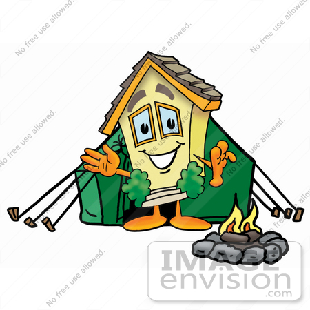 clip art graphic of a yellow residential house cartoon character rh imageenvision com House On Fire Drawing house on fire clipart
