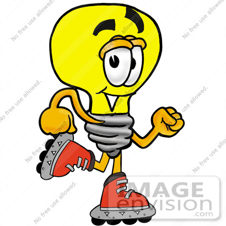 Royalty free cartoon styled clip art graphic of a yellow electric