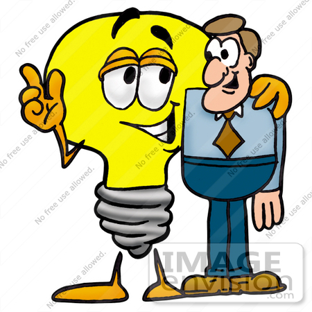 clip art graphic of a yellow electric lightbulb cartoon character rh imageenvision com person talking on cell phone clipart Students Talking Clip Art