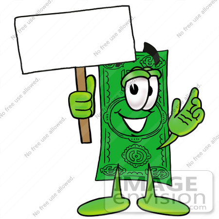 clip art graphic of a flat green dollar bill cartoon character rh imageenvision com 1 Dollar Bill Clip Art $10 bill clip art