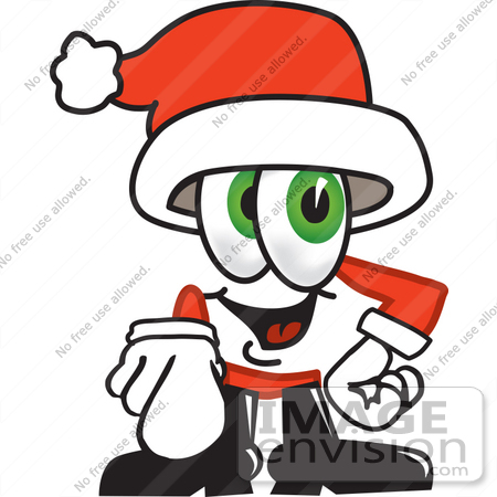 #25261 Clip Art Graphic of a Santa Claus Cartoon Character Pointing at the Viewer by toons4biz