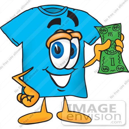 clip art graphic of a blue short sleeved t shirt character holding a rh imageenvision com buy clipart swamp christmas buy clip art for commercial use