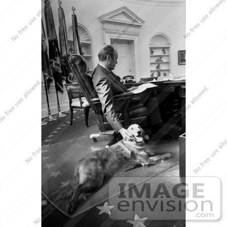 #2551 Gerald Ford and His Dog, Liberty by JVPD