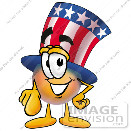 #25582 Clip Art Graphic of a Patriotic Uncle Sam Character Pointing at the Viewer by toons4biz
