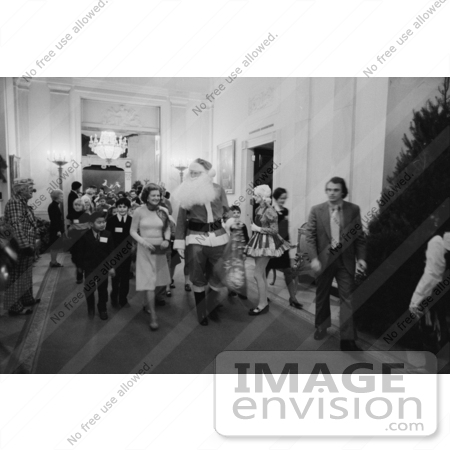 #2610 First Lady Betty Ford, Santa Claus and Children by JVPD