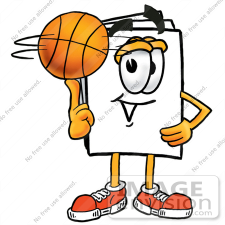 clip art graphic of a white copy and print paper cartoon character