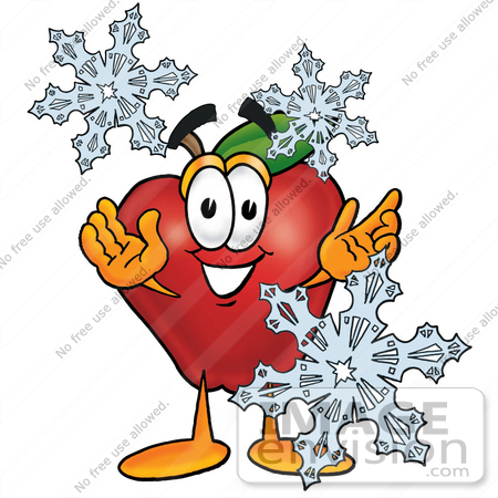 Royalty free cartoon styled nutrition clip art graphic of a red apple