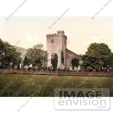 #26845 Stock Photography of the Graveyard and Crosthwaite St Kentigern's Church in Keswick Derwentwater Lake District Allerdale Cumbria England UK by JVPD
