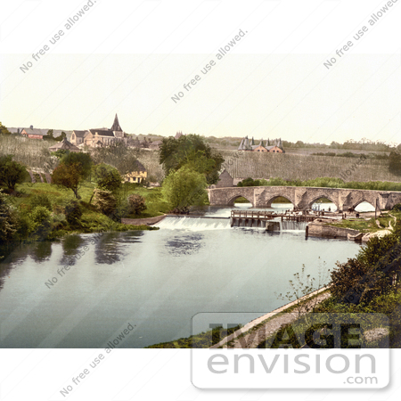 #26853 Stock Photography of East Farleigh Lock on the River Medway Maidstone Kent England UK by JVPD