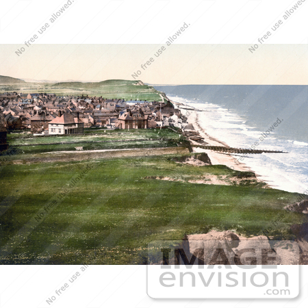 #26904 Stock Photography of a View on the Coastal Town of Sheringham as Seen From the East Cliff in Norfolk England UK by JVPD