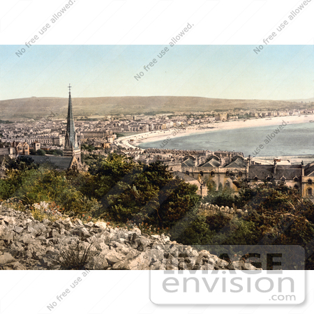 #26932 Stock Photography of the Coastal Town of Weston-super-Mare on the Bristol Channel in North Somerset England UK by JVPD