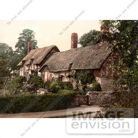 #26945 Stock Photography of The Historical Ann Hathaway's Cottage In Shottery Stratford-On-Avon Warwickshire England UK by JVPD