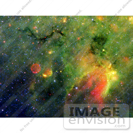 #27004 Stock Photography of A Dark Cloud Resembling A Snake In Space by JVPD