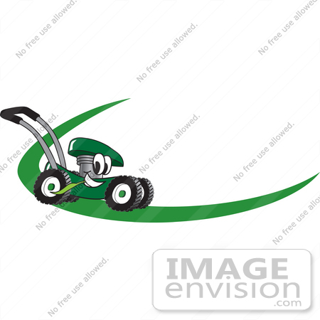 clip art graphic of a green lawn mower mascot character chewing on a rh imageenvision com lawn mower logo free lawn mower logo free