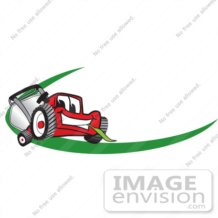 clip art graphic of a red lawn mower mascot character facing forward rh imageenvision com lawn mower repair logos cool lawn mower logos