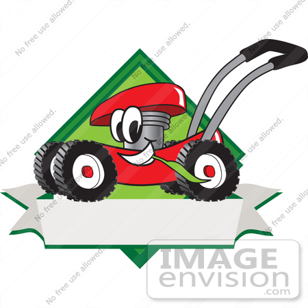 clip art graphic of a red lawn mower mascot character in profile on rh imageenvision com lawn mowing clipart free free lawn mower clipart images