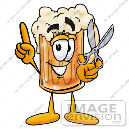 Clip art Graphic of a Frothy Mug of Beer or Soda Cartoon Character ...