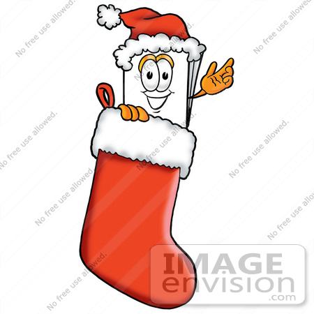 clip art graphic of a white copy and print paper cartoon Stuffing the Stockings Clip Art Stocking Full of Toys Clip Art