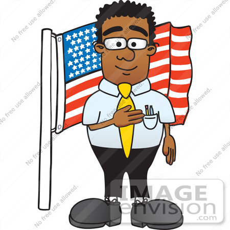clip art graphic of a geeky african american businessman cartoon rh imageenvision com american clipart free american clipart free
