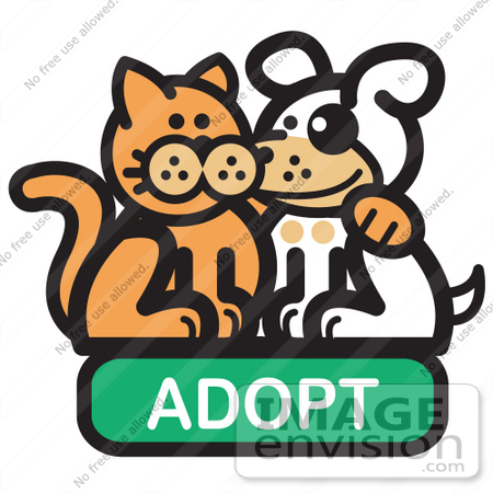 Royalty-free Cartoon Clip Art of an Orange Cat With His Arm Around ...