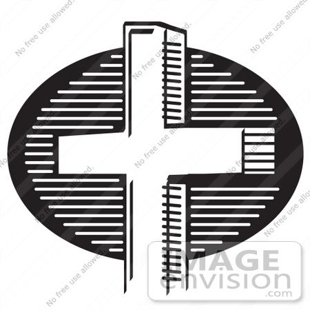 royalty free black and white cartoon clip art of a church cross rh imageenvision com Church Picnic Clip Art Free Church Clip Art Free Printable