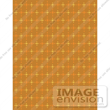 #29221 Royalty-free Cartoon Clip Art of an Orange Background With Colorful Stars by Andy Nortnik