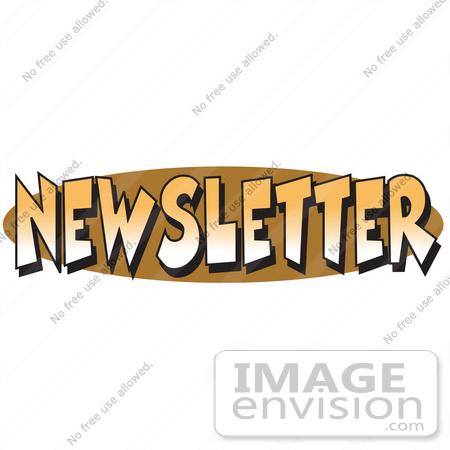 royalty free cartoon clip art of an internet web button reading rh imageenvision com church newsletter clipart newsletter clip art graphics