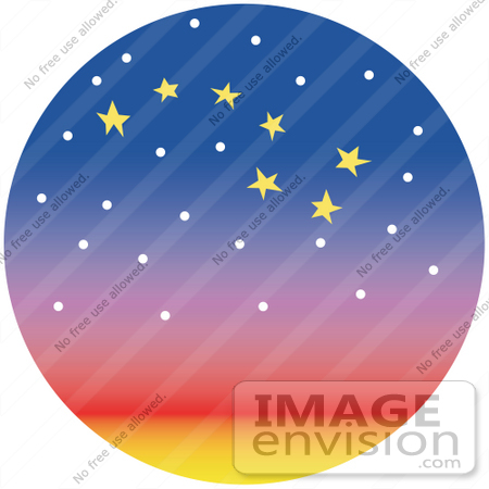 #29318 Royalty-free Cartoon Clip Art of Stars Forming The Shape Of The Big Dipper In The Night Sky by Andy Nortnik