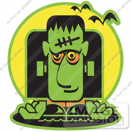 Royalty-free Cartoon Clip Art of a Green Frankenstein With Vampire ...