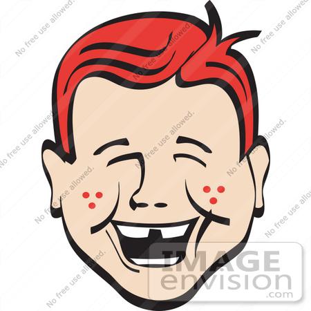 laughing face clip art. Cartoon Clip Art of a