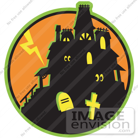 haunted house images cartoon. #29382 Royalty-free Cartoon Clip Art of a Glowing Eyes Peeking Out From