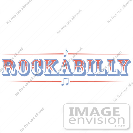 #29402 Royalty-free Cartoon Clip Art of a Western Rockabilly Music Sign by Andy Nortnik