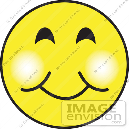 #29439 Royalty-free Cartoon Clip Art of a Friendly Yellow Smiley Face With A Closed Mouth Smile by Andy Nortnik
