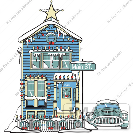 Clip Art Houses Free. #29459 Royalty-free Cartoon