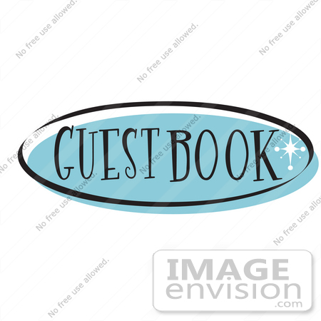 royalty free cartoon clip art of a blue guestbook website button rh imageenvision com website clipart png website clipart vector
