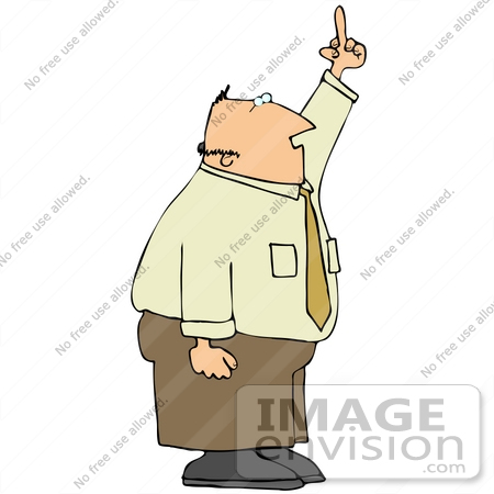#29789 Clip Art Graphic of a Pissed Businessman Flipping People Off by DJArt