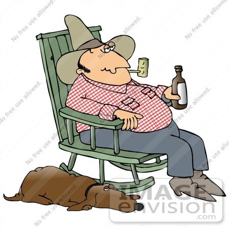 Tired Dog Drinking Wine Cartoon