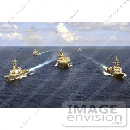 #30730 Stock Photo of United States Military Ships And Aircraft Carriers On The Atlantic Ocean by JVPD