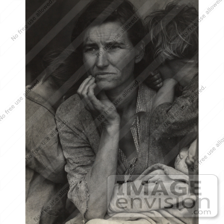 #3131 Migrant Mother by Dorothea Lange by JVPD