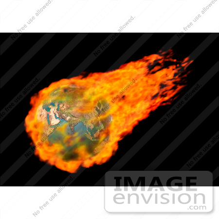 #31448 Burning Earth Globe by Oleksiy Maksymenko