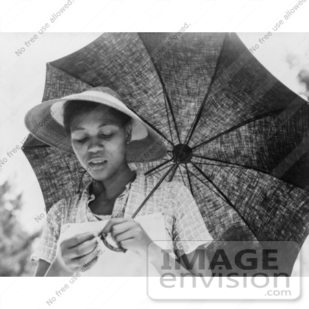 #3160 African American Woman With Umbrella by JVPD