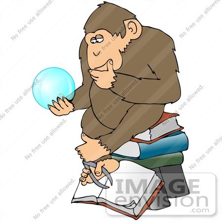 thinking clip art chimp