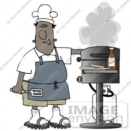 Dad cooking clipart