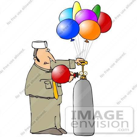 clip art graphic of a caucasian balloon man filling party balloons rh imageenvision com birthday party balloons clipart pictures of party balloons clipart