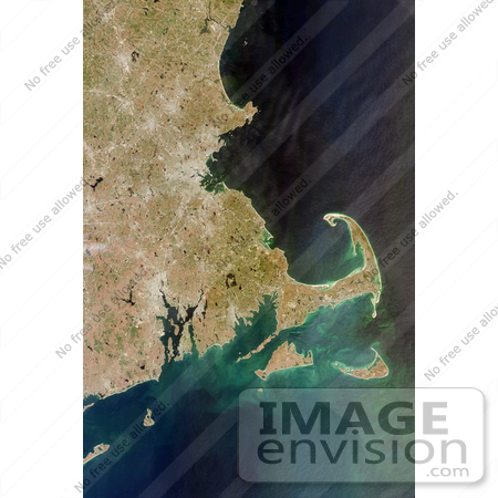 #3343 Cape Cod From Space by JVPD