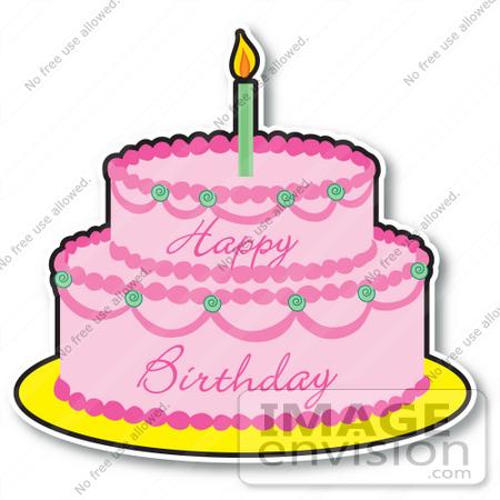 birthday cupcakes clipart. Pink Girl#39;s Birthday Cake
