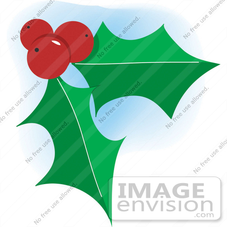 Christmas Clipart Holly.Christmas Clipart Of Three Red Berries And Two Green Holly