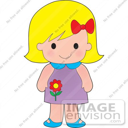 blonde hair girl clip art